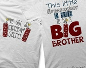 Big Brother Iron on Transfer - Iron on 4th of July Shirt / Kids Boys Tshirt / Going to be a Big Brother Shirt / Firecracker Clothing -C
