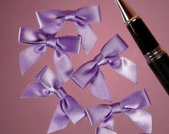 "25ct. Tiny Iris Lavender Purple Satin Bow Ties 1"" x 1-3/8"" Craft Supply Gift Box Decoration (FREE SHIPPING!)"