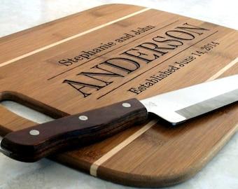 Custom Cutting Board Cheese Board Chopping Block Personalized Wedding Anniversary Gift
