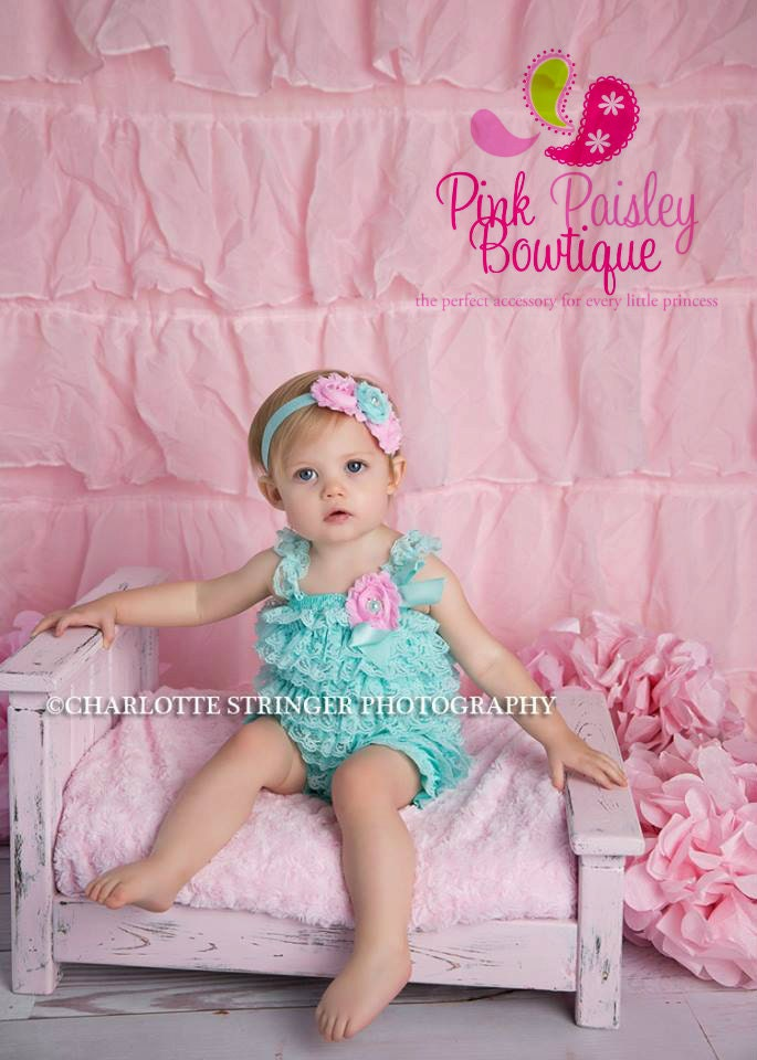 Cake Smash Outfit Baby Girl 1st Birthday Outfit Aqua