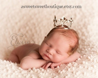 Baby Boy Crown Mini Crown Photo Prop Baby Boy Photo Prop Newborn Prince Crown Full Crown Headband