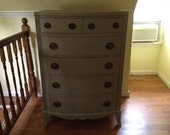 Free NYC Delivery *Large Classic 6 Drawer Bow Front  Dresser