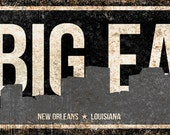 "The Big Easy // New Orleans, Louisiana // Metal Sign // 5.5"" x 22"""