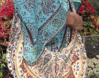 Vintage Festival Bohemian Rhapsody One of a Kind Vintage Iranian Cotton Circa 1960's Bohemian Bag