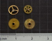 Steampunk Supplies vintage clock movement parts brass gears wheels for industrial sculpture jewelry making craft supplies Scrapbooking 2915