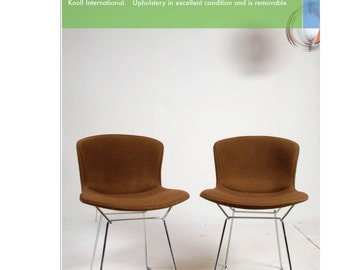 3 Harry Bertoia Chairs for Knoll With Pads