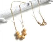 Simple Gold Necklace - Bridesmaid Gift Idea - Minimalist, Classic Jewelry