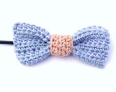 Crochet Bow / Crochet Hair Pin / Blue Bow / Purple and Pink Bow / Pink Bow