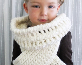 Crochet PATTERN: The Thea Cowl Vest-Toddler, Child & Adult Sizes-chunky, wrap, fall, winter, modern, unique