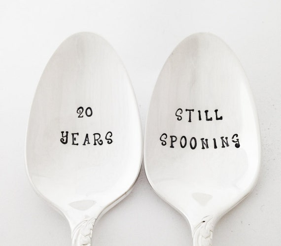 20th Still Spooning Wedding Anniversary 20 Year By