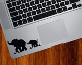 TP - Elephant Mom and Baby DESIGN 1 - Trackpad / Keyboard - Vinyl Decal  (Color Variations Available)