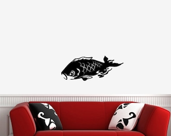 Koi fish wall decal etsy for Koi wall sticker