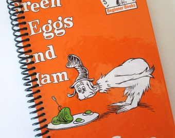 DR. SEUSS Recycled Green Eggs and Ham Journal Book - Orange Spiral Binding
