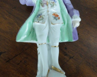979)  Vintage Porcelain Male Figure for a table lamp