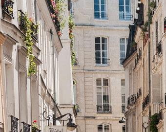 Paris Street Photograph, Travel Architecture Fine Art Photograph, French Home Decor, Large Wall Art, Urban Wall Decor