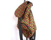 Neon Geometric Backpack // Gnarly Bag // Handcrafted Geo Print Backpack