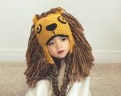 HARRY POTTER inspired Luna Lovegood crochet lion hat with earflaps