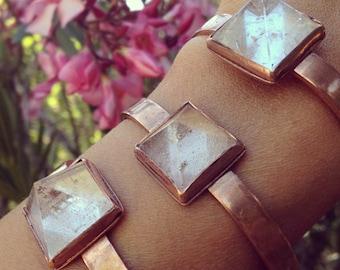 Quartz Crystal Pyramid Cuff / Bracelet