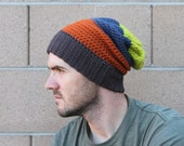 SALE!! Crochet Slouchy Beanie / Mens Slouchie Beanie / Ready to Ship