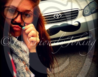 Giant Car Mustache Vinyl Decal-Car mustache-Mustache sticker-The Handlebar-Little Man Party-Mustache Theme-Little Man-Mustache Car Decal