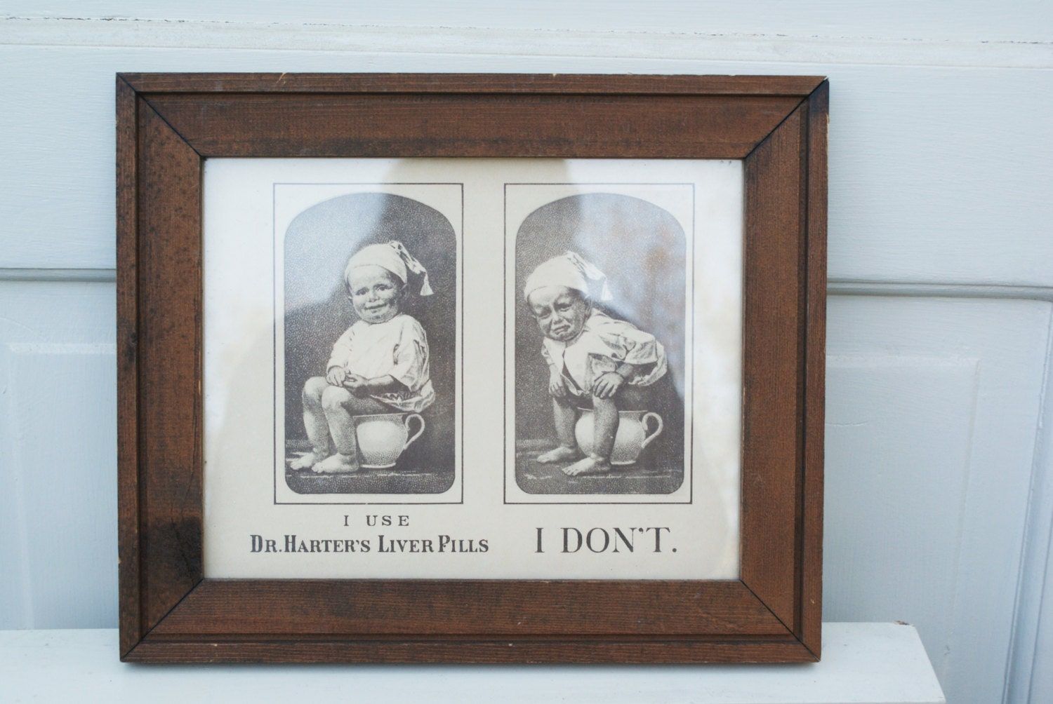 Man Caves Englewood Co : Framed art comical s reproduction bathroom humor