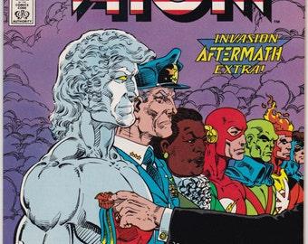 Vintage Comic DC Comics January 1989 Captain Atom Number 25 - Invasion Aftermath - Major Force - Slow Burn - Nathaniel Adam - Plastique