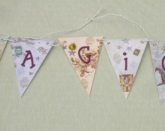 Wicca Magic Mixed Media Chip Board Banner