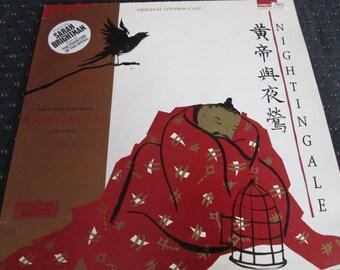 Sarah Brightman, LP Record:  Nightingale; Original London Cast; Soundtrack LP; 1983, Vinyl Album.