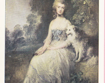 "Large ""Perdita"" by Gainsborough Art Postcard - 1263"