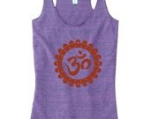 OM Symbol Tank Top, Ohm Yoga Top, Chakra Tank Top For Women