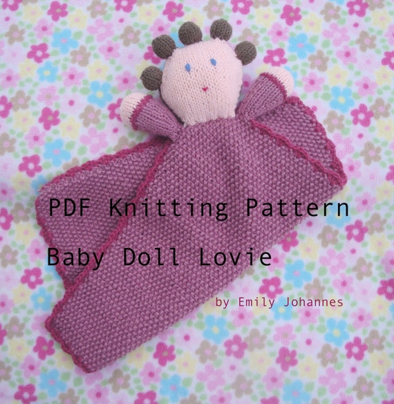 Knit baby lovey pattern
