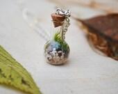 WEIRD SCIENCE Terrarium Necklace with live kentucky moss
