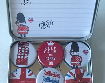 I Love London Magnets, gift set