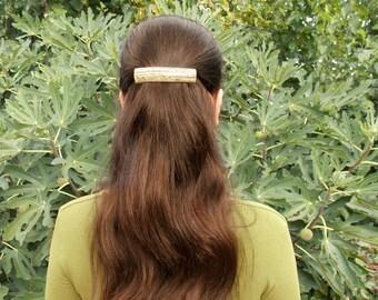 French barrette, deer antler, geometric hair clip, thinner dreads, hair barrette, tribal, natural hair accessories, handmade by MariyaArts