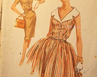 Dressed for Fun Dress pattern McCalls 6188 1950s 1960s