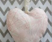 Lavender Heart: Pink Paris Map & Raindrops