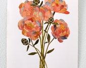 Peony Art Print, Watercolor Painting, Flower Art, Floral, Botanical, Giclee Art Print, Archival Art Print - Peony Bundle