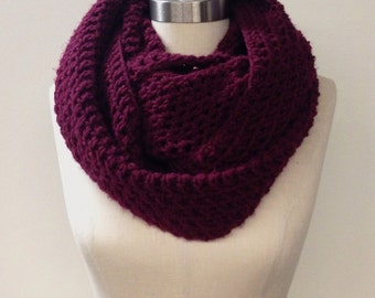 FLASH SALE || Simple Merlot Infinity Scarf
