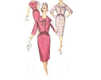 Simplicity 3842 Sewing Pattern 60s Mad Men Style Fashion Wiggle Dress Cropped Bolero Jacket Jackie O Size 16 Bust 36 Uncut