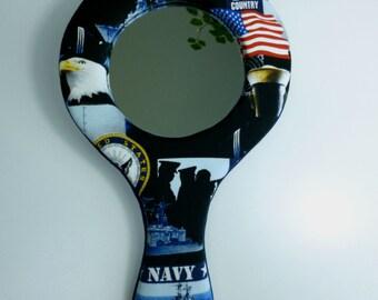 US Navy hand-held mirror