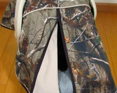 Camo Car Seat Canopy in Realtree Xtra Camouflage and Khaki Tan/ Baby Carseat Canopy / Infant Car Seat Canopy Cover / My Baby Blind