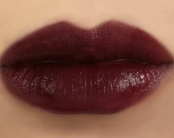 "Vegan Mineral Lipstick - ""Empress"" (dark reddish burgundy lipstick) natural lip tint, balm, lip colour"