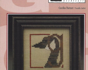 """Clearance - Alphabet Mania """"G"""" Counted Cross Stitch Chart by Heart in Hand"""