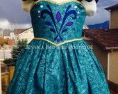 Frozen Inspired Queen Elsa Coronation Sundress - Elsa Coronation Dress