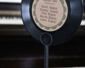 Set of 14 Vinyl Record Table number with Stands