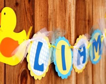 Rubber Ducky Custom Name Banner