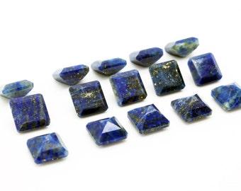 GCF-1084 - Lapis Lazuli Gemstone - Square 10x10mm - September Birthstone - AA Quality - 1 Pc