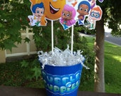 Fully Assembled Bubble Guppies Centerpiece - Birthday Party - Bubble Guppies Birthday party