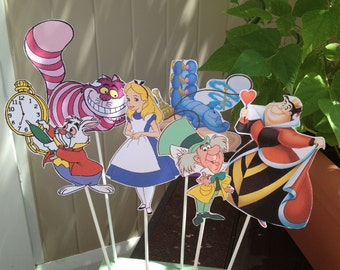 1 - Alice in Wonderland diy CENTERPIECE - Birthday Party Decor - One of a Kind - Any Character - Tea Party