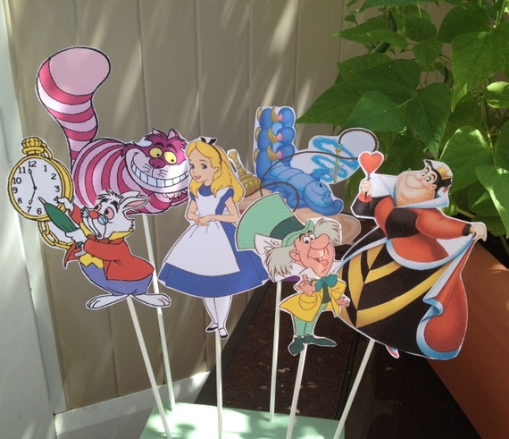 1 Alice In Wonderland Diy CENTERPIECE Birthday Party Decor